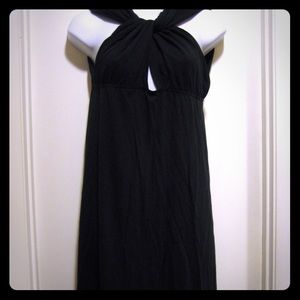 Sisley Black Jersey Knit Dress Size L